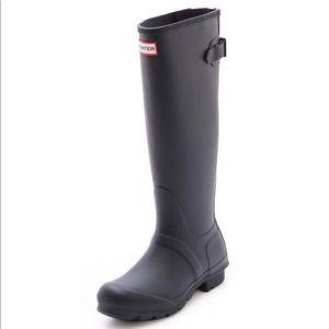 Hunter Wellington Original Tall Black Boots US 10
